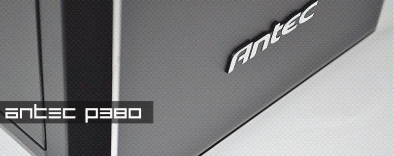 antec p380 edles geh use im massiven aluminiumkleid. Black Bedroom Furniture Sets. Home Design Ideas