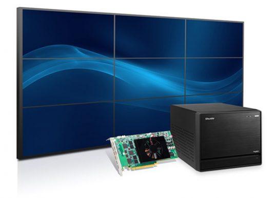 Shuttle Mini-PC mit Matrox C900 Grafikkarte steuert neun Full HD Bildschirme an
