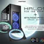 Phanteks Halos und Halos Lux RGB-LED-Rahmen für Lüfter und das Enthoo Pro M in der Special Edition.
