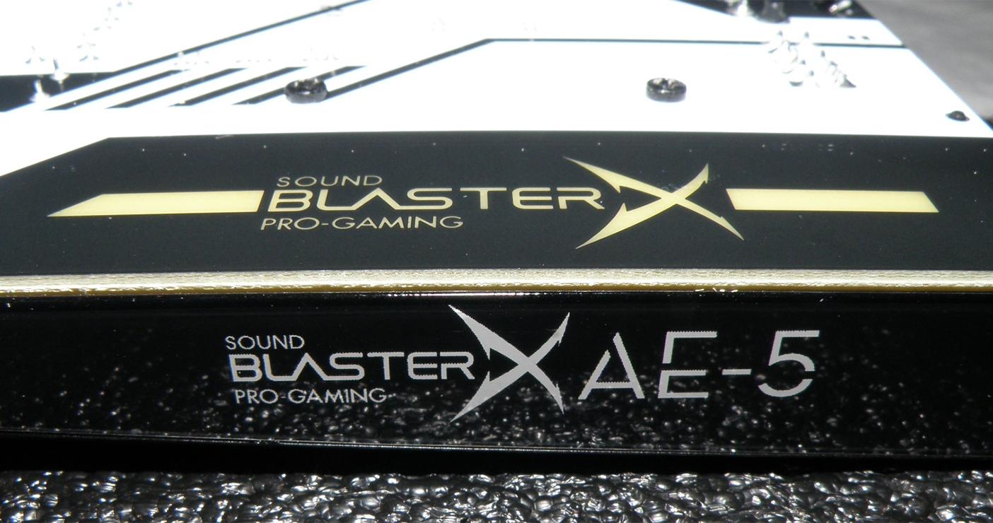 Gaming-Soundkarte Sound BlasterX AE-5 von Creative mit RGB