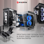 Design-Gehäuse Coeus Evo, Elite TC und Paean M sowie das Paxx Riser-Card-Adapter-Kit von Raijintek