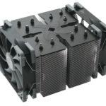 Der neue Ninja 5 CPU Kühler von Scythe besticht durch zwei leise Kaze Flex 120 PWM Lüfter im Push-/Pull-Aufbau