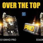 BIOSTAR präsentiert Intel 300 Motherboards der Einstiegsklasse: B360MHD PRO und H310MHD PRO