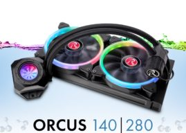NEUHEIT bei Caseking – Die Raijintek Orcus RGB Rainbow Komplett-Wasserkühlung mit adressierbarer RGB-Beleuchtung.