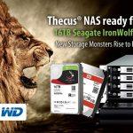 Thecus NAS sind bereit für Seagate IronWolf 16TB & WD Red 12TB HDDs
