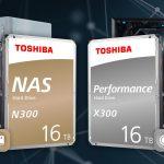 Toshiba präsentiert Festplattenserien N300 und X300 mit 16TB Speicherkapazität