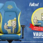 Caseking präsentiert die offiziell von Bethesda lizenzierte noblechairs HERO Fallout Vault Tec Edition!