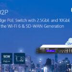 QNAP präsentiert den neuen Smart Edge PoE Switch QGD-1602P mit 2,5 GbE und 10 GbE für die Wi-Fi 6 & SD-WAN Generation