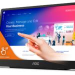 """AOC präsentiert tragbares 15,6""""-Display mit 10-Punkt-Touchfunktionalität: 16T2"""