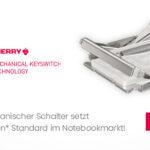 Ultraflacher, mechanischer Schalter setzt neuen, patentierten Standard im Notebookmarkt!