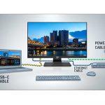 EINE SERIE FÜR ALLE (KABEL) - die ProLite 92er-Serie mit integrierter USB-C-Dockingstation sorgt für einen aufgeräumten Schreibtisch