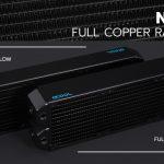 Alphacool präsentiert heute die NexXxoS XT45/UT60 360mm Full Copper Dual-Flow und die NexXxoS ST25 92mm Full Copper Radiatoren