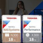 Toshiba erweitert Speicher der N300- und X300-Festplatten auf 18 Terabyte