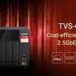 QNAP stellt das TVS-675 2,5GbE NAS mit Zhaoxin 8-Core Prozessor, M.2 SSD-Caching, PCIe Erweiterung und 4K HDMI Display vor